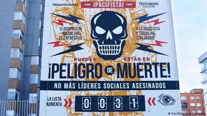 Graffiti del colectivo Toxicómano, realizado en cooperación con la plataforma Pacifista.