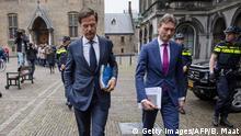 Amsterdam - Mark Rutte nach Verhandlungen