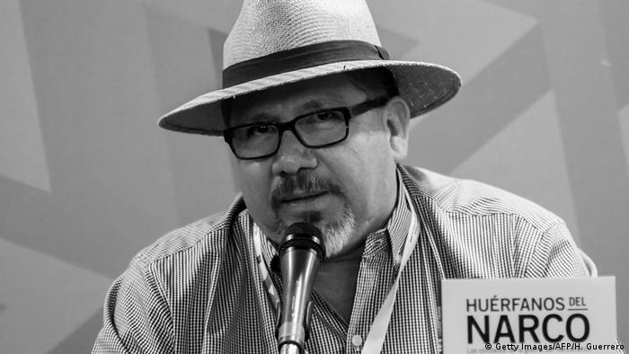 Javier Valdez en la Feria Internacional del Libro de Guadalajara. (Archivo).