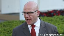 15.5.2017*** WASHINGTON, DC - MAY 15: National security advisor H.R. McMaster speaks to the media about President Trump's meeting with Russian diplomats in the Oval Office last week, on May 15, 2017 in Washington, DC. Reports indicate that Trump revealed highly classified information to the Russians. (Photo by Mark Wilson/Getty Images)