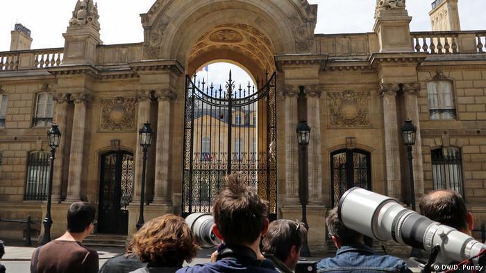 Paris Elysee-Palast Pressefotografen