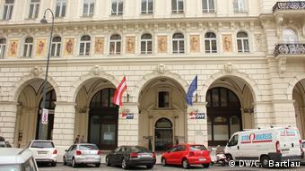 Österreich vor Neuwahlen ÖVP Zentrale in Wien