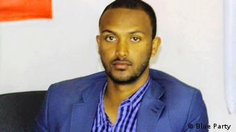 Opposition politician Yonatan Tesfaye (Blue Party )