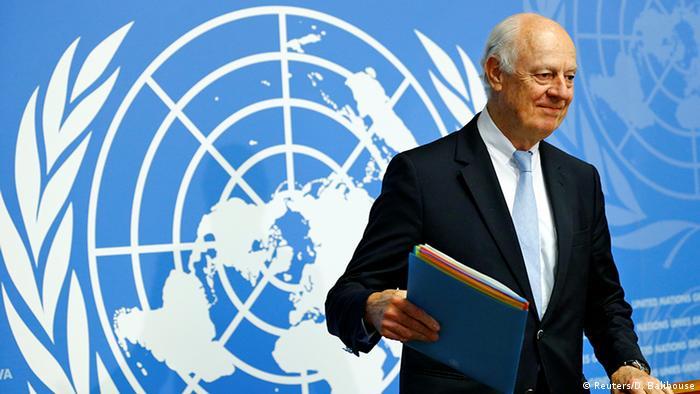 Genf Syrien Gespräche Staffan de Mistura (Reuters/D. Balibouse)