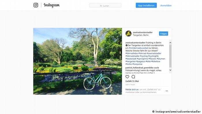 Screenshot Instagram Account zweiradcenterstadler