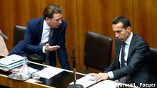 Österreich Kurz und Kern im Parlament in Wien