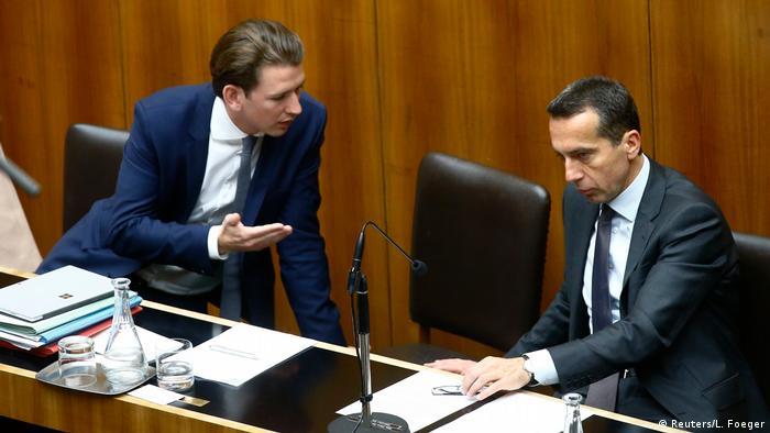 Себастіан Курц (ліворуч) та Крістіан Керн в австрійському парламенті