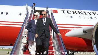 Erdogan kommt in Washington an (picture alliance/dpa/Presidency Press Service)