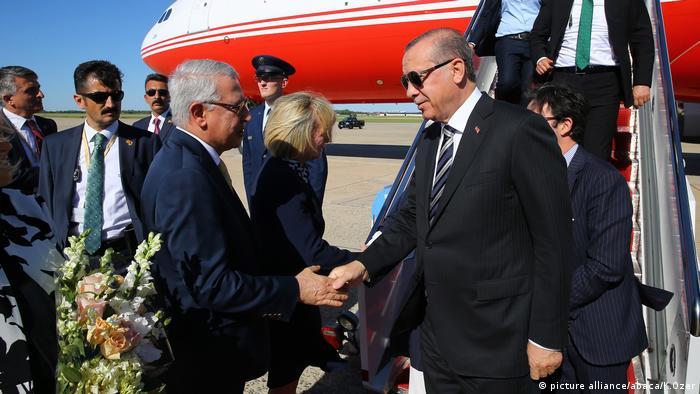 Turkish President Erdogan arrives in Washington