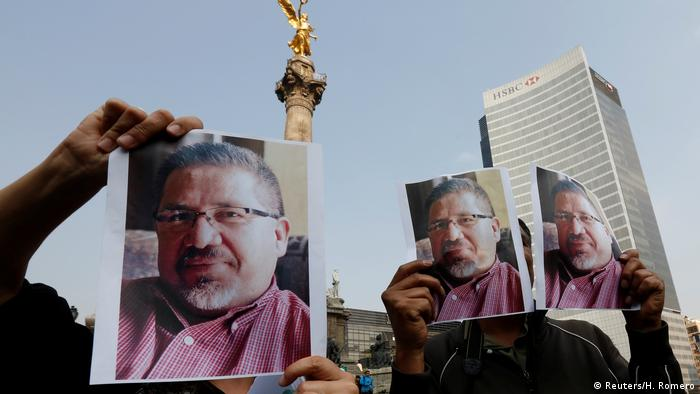 Mexiko Protest von Journalisten