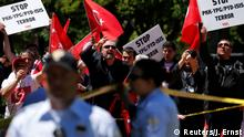 Washington Pro-Erdogan Demonstranten im Lafayette Park