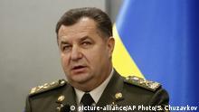 Ukraine Verteidigungsminister Stepan Poltorak