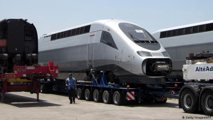 MOROCCO TGV high speed train being delivered (Getty Images/AFP)