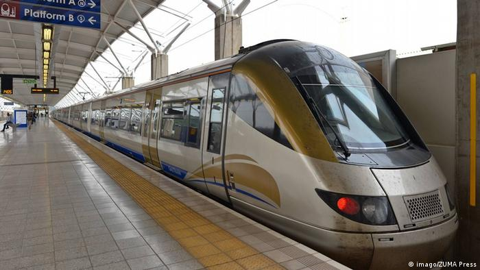 Nov 27 2014 Cape Town South Africa View of the Gautrain inside Pretoria station Gautrain is