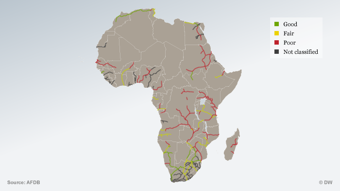 Info graphic railroad tracks in Africa ENG