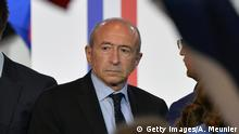PARIS, FRANCE - MAY 01: The Mayor of Lyon Gerard Collomb arrives a French Presidential Candidate Emmanuel Macron is about to give a political meeting at Grande Halle de La Villette on May 1, 2017 in Paris, France. Emmanuel Macron faces President of the National Front, Marine Le Pen in the final round of the French presidential elections on May 07. (Photo by Aurelien Meunier/Getty Images)