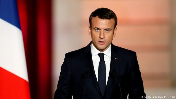 Frankreich Emmanuel Macron Amtseinführung (Getty Images/AFP/F. Mori)
