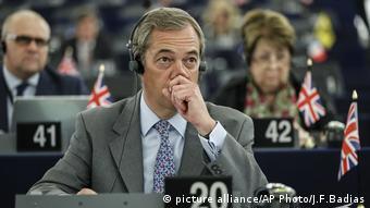 Nigel Farage (picture alliance/AP Photo/J.F.Badias)