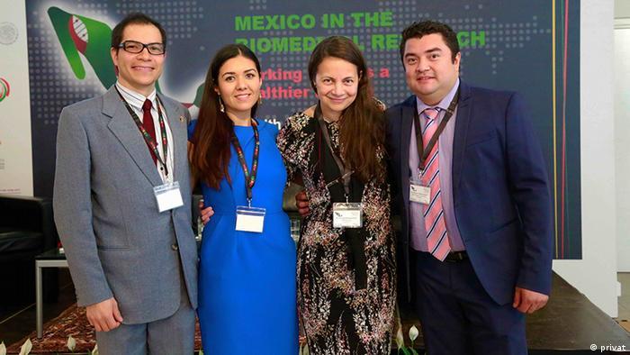 Científicos mexicanos en Alemania.