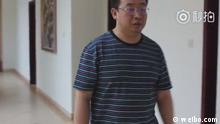 ***ACHTUNG: Bild nur zur Berichterstattung über das dargestellte Video verwenden!*** Sreenshot von Jiang Tianyong, Rechtsanwalt in China. Chinese police released a video on Thursday of detained human rights activist Jiang Tianyong to refute what it described as rumours he had been tortured, though Jiang's wife said the clip had not assuaged fears for her husband's safety., Quelle: http://www.weibo.com/tv/v/F3AJzfRhS?fid=1034:e8ac656d6a9168d646b15494dc87c600 Datum: 18.05