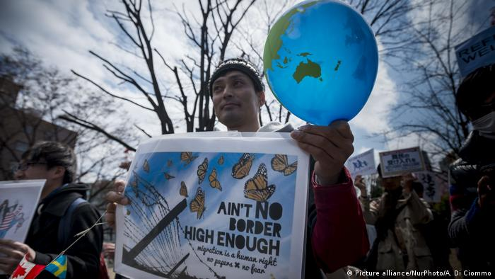 Protesters for refugee rights in Japan (Picture alliance/NurPhoto/A. Di Ciommo)