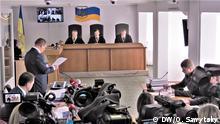 Im Gerichtssaal in Kiew Foto: Olexandr Sawytsky, DW-Korrespondent in Kiew