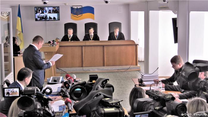 На одном из заседаний суда по делу Януковича