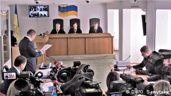 Слухання справи Януковича в Оболонському районному суді міста Києва