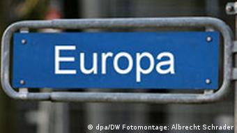 Symbolbild Straßenschild Europa