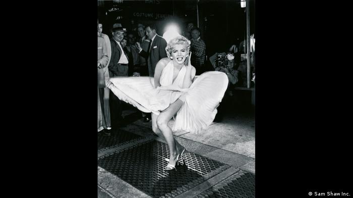 The iconic Marilyn Monroe standing over the air grate (Copyright: Sam Shaw Inc.)