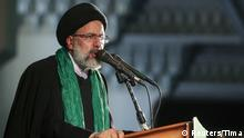 Iranian Presidential candidate Ebrahim Raisi speaks during a campaign meeting at the Mosalla mosque in Tehran, Iran, May 16, 2017. REUTERS/TIMA ATTENTION EDITORS - THIS IMAGE WAS PROVIDED BY A THIRD PARTY. FOR EDITORIAL USE ONLY.
