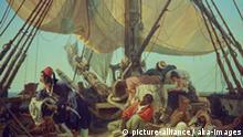 N.Simonsen, Piraten auf dem Verdeck... Simonsen, Niels 1807-1885. 'Piraten auf dem Verdeck ihres Schif- fes', 1836. Oel auf Leinwand, 99 x 129 cm. Dauerleihgabe der Speck von Sternburg Stiftung, Inv.Nr. 1715 Leipzig, Museum der Bildenden Kuenste. E: N.Simonsen, Pirates on Deck of Ship... Simonsen, Niels 1807-1885. 'Pirates on Deck of their Ship', 1936. Oil on canvas, 99 x 129cm. Permanent loan by the Speck von Stern- burg Foundation. Inv.no. 1715 Leipzig, Museum der Bildenden Kuenste.