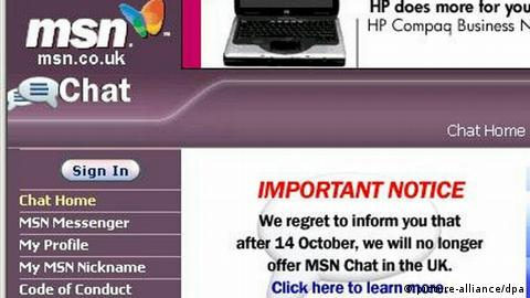 Internet - Microsoft MSN (picture-alliance/dpa)