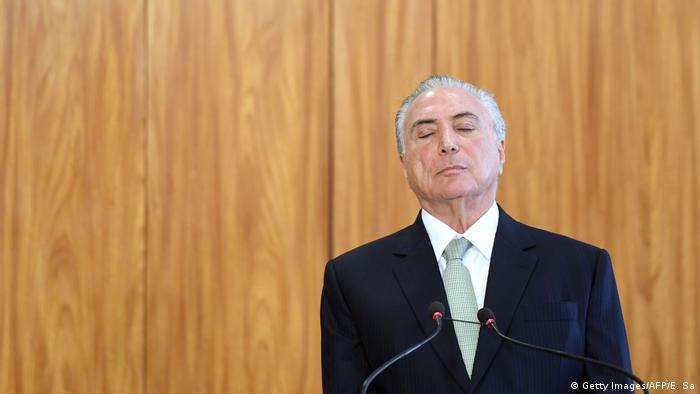 Brasilien - Korruptionsskandal - Michel Temer (Getty Images/AFP/E. Sa)