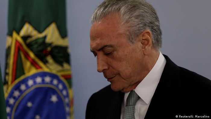 Brasilien - Korruptionsskandal - Michel Temer (Reuters/U. Marcelino)