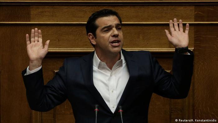 Griechenland Athen Alexis Tsipras im Parlament