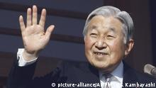 02.01.2017***** FILE - In this Jan. 2, 2017, file photo, Japan's Emperor Akihito waves to well-wishers from the palace balcony during a New Year's public appearance with his family members at the Imperial Palace in Tokyo. Japan's Cabinet has approved for legislative debate a bill to allow 83-year-old Emperor Akihito to abdicate. The legislation endorsed Friday, May 19, 2017 would allow Crown Prince Naruhito to succeed his father as emperor. (AP Photo/Shizuo Kambayashi, File)  