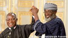 Für ein Versöhnungsprojekt in Nigeria mit dem Hessischen Friedenspreis geehrt: Pastor Wuye und Imam Ashafa