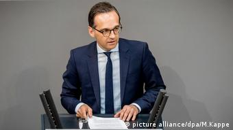 Bundestag Heiko Maas (picture alliance/dpa/M.Kappe)