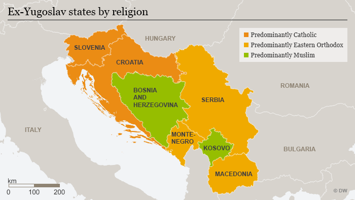 The balkans from yugoslav wars to an ever tense peace europe the nations of ex yugoslavia are divided by religion and loyalties to outside powers gumiabroncs Choice Image