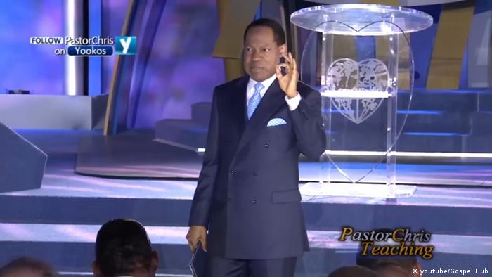 Pastor Chris Oyakhilome preaching in a youtube Video