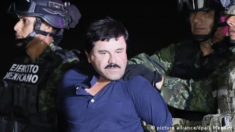 Mexiko - Drogenkrieg - Symbolbild - El Chapo (picture alliance/dpa/J. Mendez)