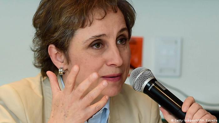 Mexiko Journalistin Carmen Aristegui (Getty Images/AFP/A. Estrella)