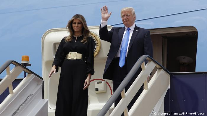 Donald Trump, Melania Trump (picture alliance/AP Photo/E.Vucci)