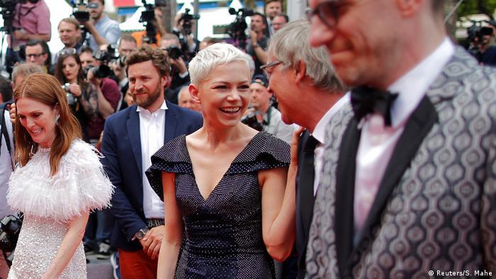 Roter Teppich für den Film Wonderstruck mit lachenden Darstellern (Reuters/S. Mahe)
