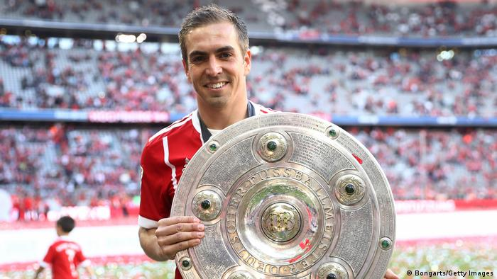 Bundesliga Saisonende - Abschied - Philipp Lahm - Meister (Bongarts/Getty Images)