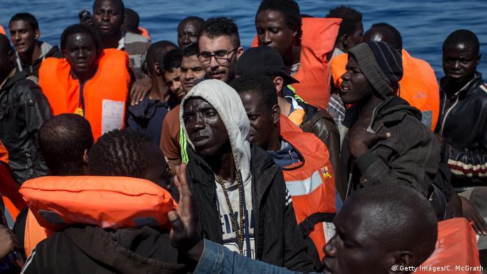 Italien - Flüchtlingsboote - Mittelmeer