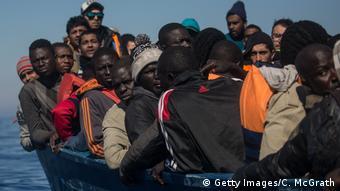 Refugees rescued after leaving Libya
