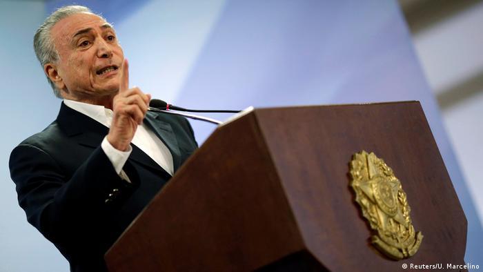 Brasilien - Korruptionsskandal - Präsident Michel Temer (Reuters/U. Marcelino)