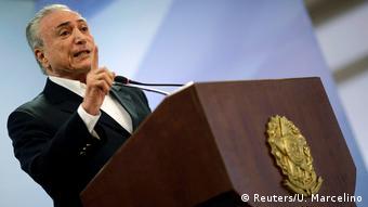 Brasilien - Korruptionsskandal - Präsident Michel Temer